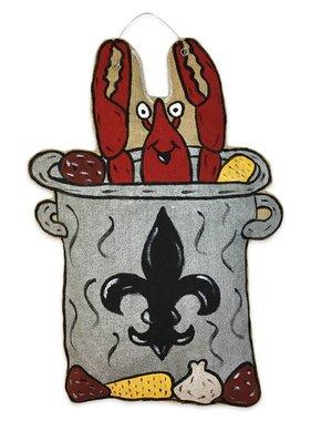Crawfish Boil Pot Door Hanger