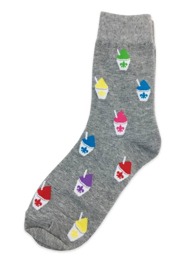Fleur de Lis Snoball Crew Socks