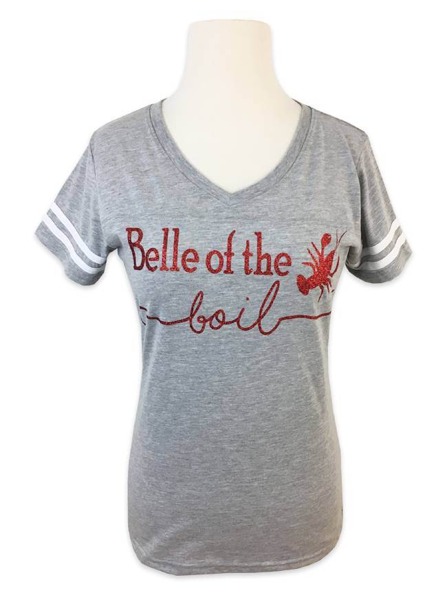 Girls Love A Monogram Belle of the Boil Tee