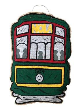 Fleurty Girl Streetcar Door Hanger