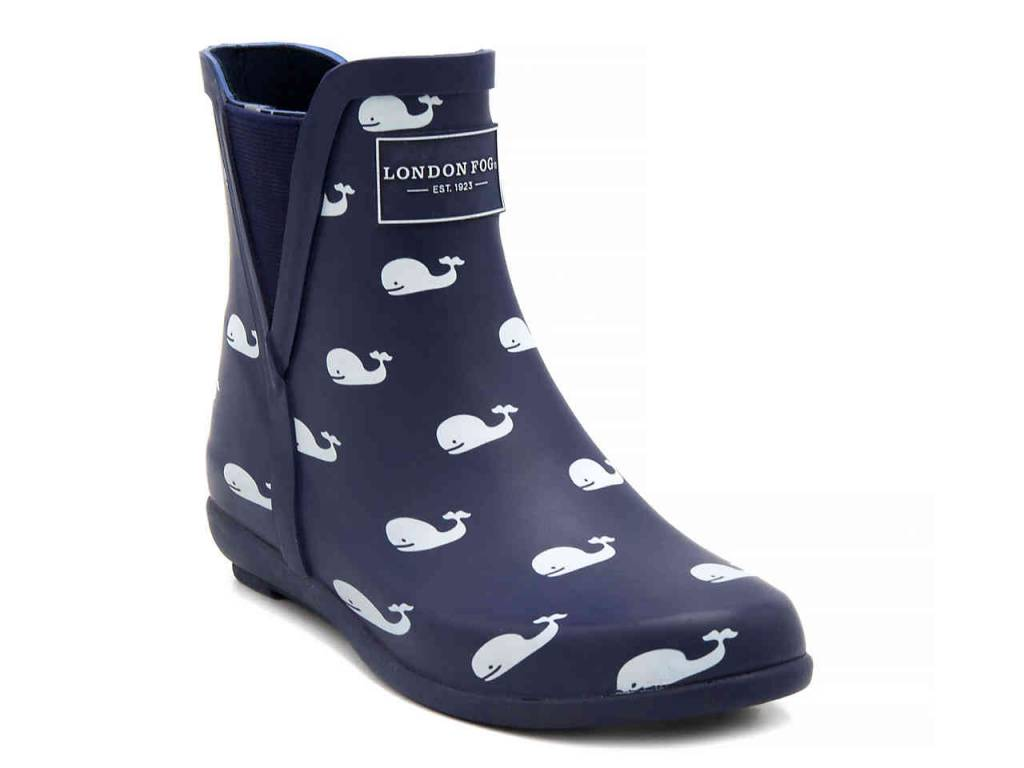Navy Whale Rain Boot