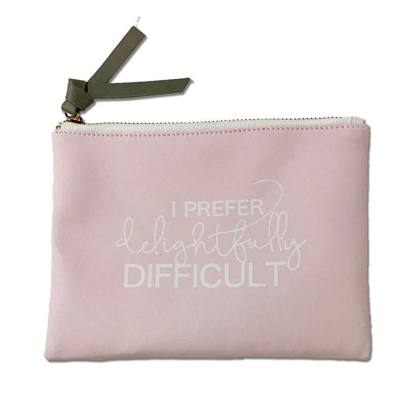Delightfully Difficult Large Pouch
