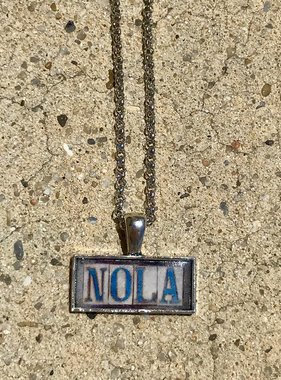 Fleurty Girl NOLA Tile Necklace