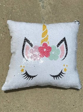 Unicorn Magic Sequin Pillow