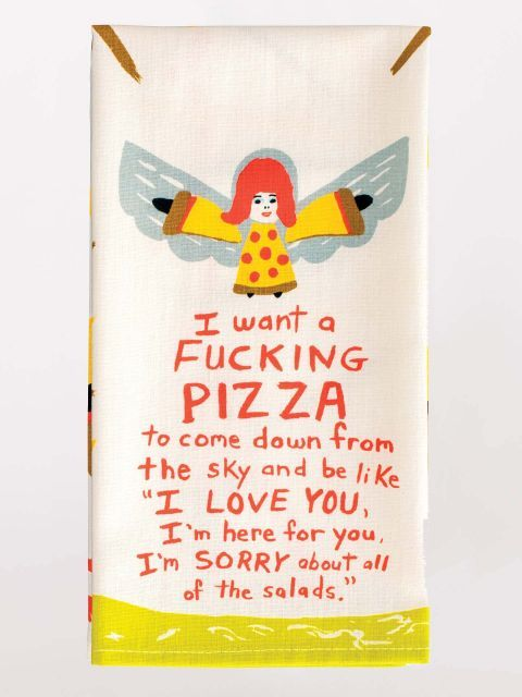 Blue Q Fucking Pizza Towel