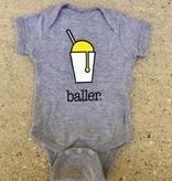 Baller Onesie in Grey