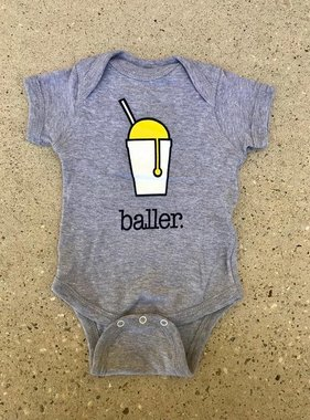 Baller Onesie in Grey
