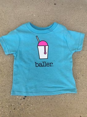 Baller Toddler Tee in Aqua