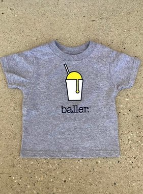 Baller Toddler Tee in Grey