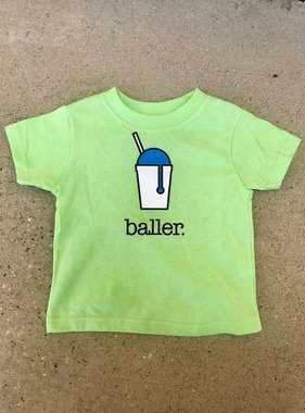 Baller Toddler Tee in Lime