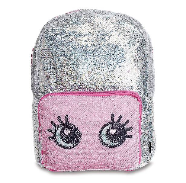 Silver Reveal Pocket Magic Sequin Backpack