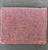 Chunky Glitter Pouch in Coral