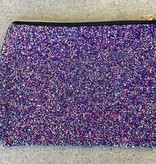 Chunky Glitter Pouch in Midnight