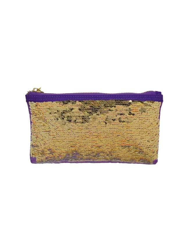 Iridescent Reversible Sequin Pencil Case