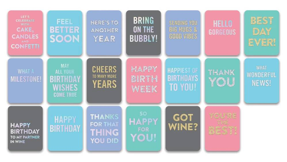 Greeting card all occasion assortment pack of 20 fleurty girl all occasion greeting card assortment m4hsunfo