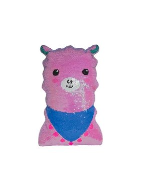 Mini Llama Reversible Sequin Pillow