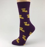 Purple and Gold Home Socks
