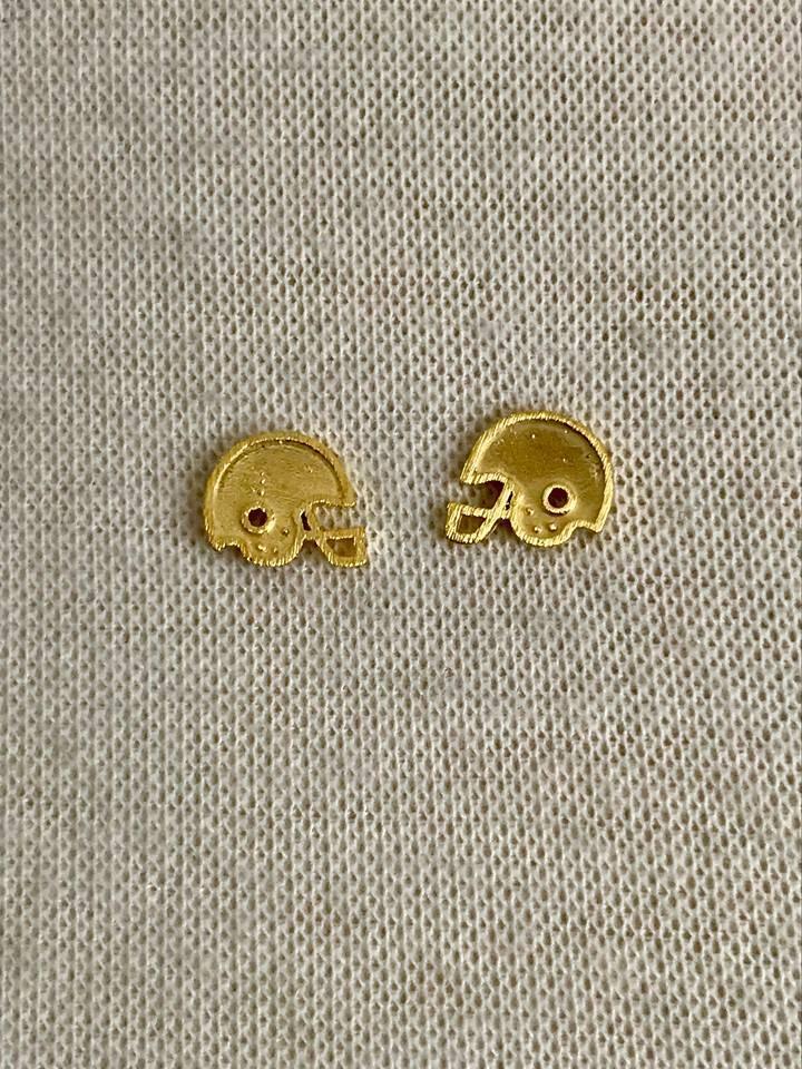 Small Helmet Earrings