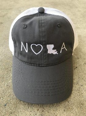 NOLA State Baseball Cap, Charcoal