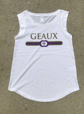 Purple & Gold Geaux Tank on White