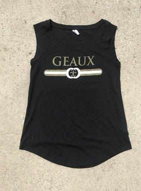 Black & Gold Geaux Tank on Black