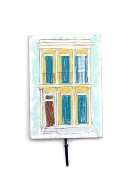 Yellow Creole Cottage Wall Hook