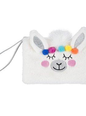 Bag, Wristlet, Llama Faux Fur