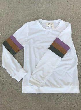 MG, Tween, Sweatshirt, Color Block Sleeve,