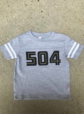 504 Black & Gold Toddler Tee
