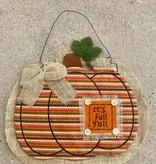 It's Fall Y'all Pumpkin Burlap Pumpkin Hanger