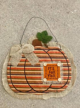 It's Fall Y'all Pumpkin Burlap Pumpkin Hanger