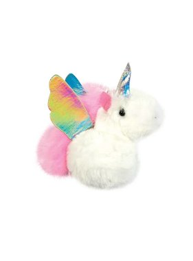 Unicorn Furry Pom Pom Clip