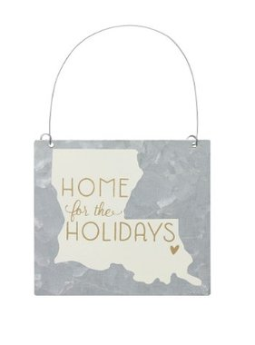 Home For the Holidays Tin Ornament
