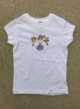 Purple & Gold Cheerleader Toddler Tee