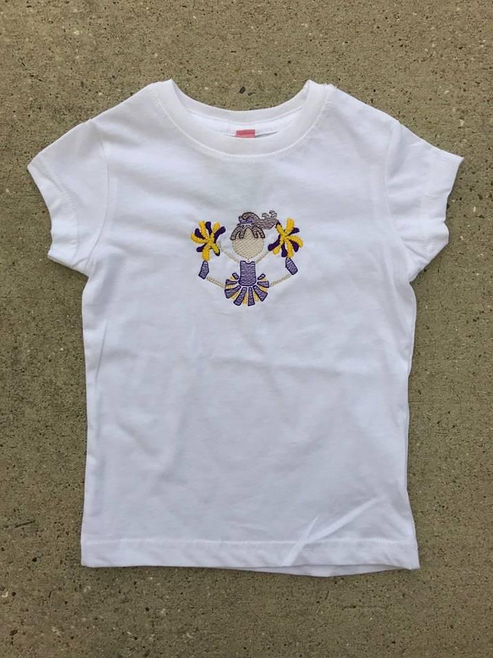 Purple & Gold Cheerleader Toddler Tee