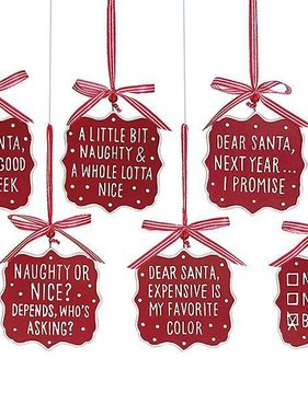 Naughty or Nice Resin Ornaments