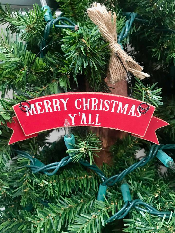 Web, Merry Christmas Y\'all Ornament - Fleurty Girl