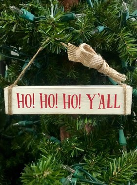 Ho Ho Ho Y'all Ornament