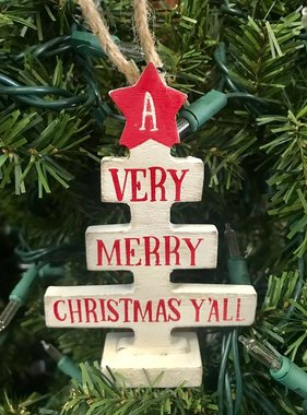 Very Merry Christmas Y'all Ornament