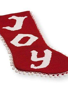 Joy Pom Pom Christmas Stocking