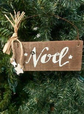 Noel Slat Ornament
