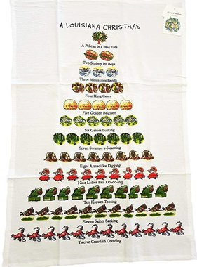 Louisiana Christmas Towel