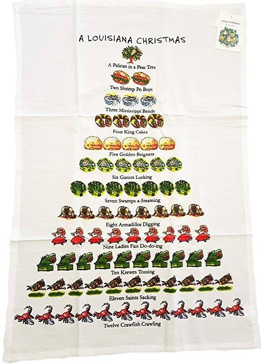 Louisiana Christmas Towel