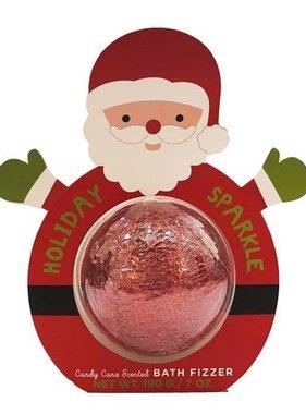 Christmas, Bath Fizzer, Holiday Sparkle Santa