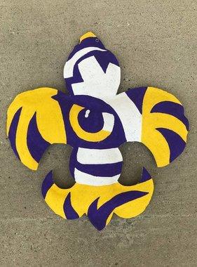 Tiger Fleur de Lis Door Hanger