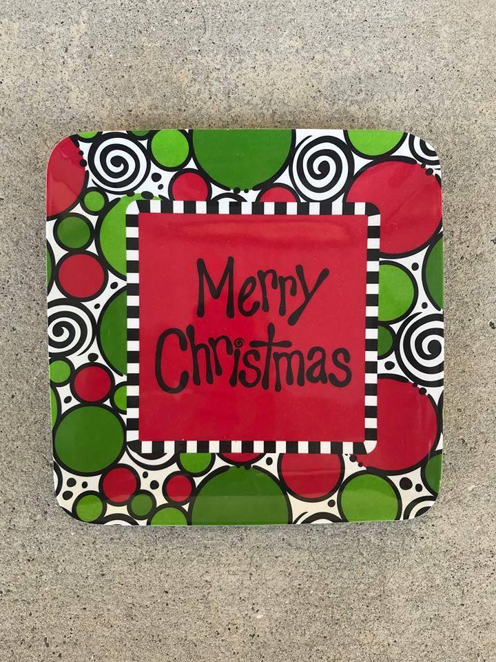 Merry Christmas Melamine Plate
