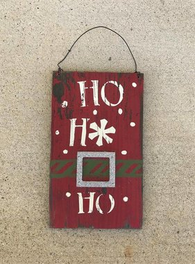Ho Ho Ho Hanging Sign
