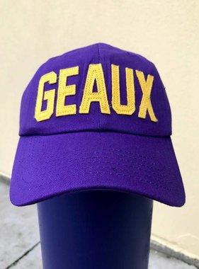 Purple & Gold GEAUX Baseball Cap