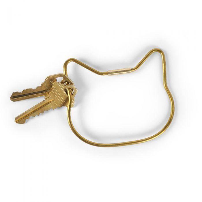 Gold Cat Keyring