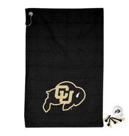 CU GOLF TOWEL, TEE & GOLF BALL SET